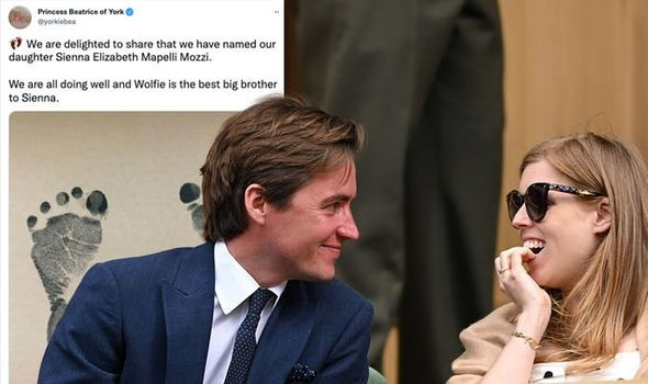 Picture of Princess Beatrice and her husband