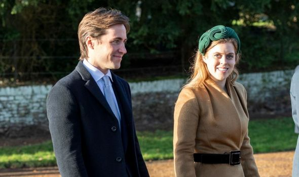 Picture of Princess Beatrice with her husband