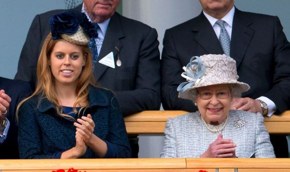Picture of Princess Beatrice with the Queen
