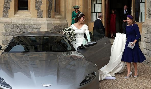 Princess Beatrice with Eugenie on her wedding day