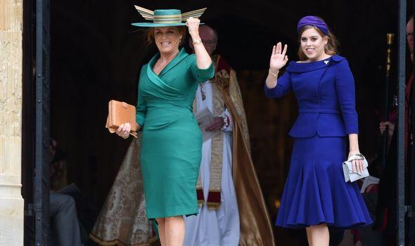 Princess Beatrice with her mother Sarah Ferguson