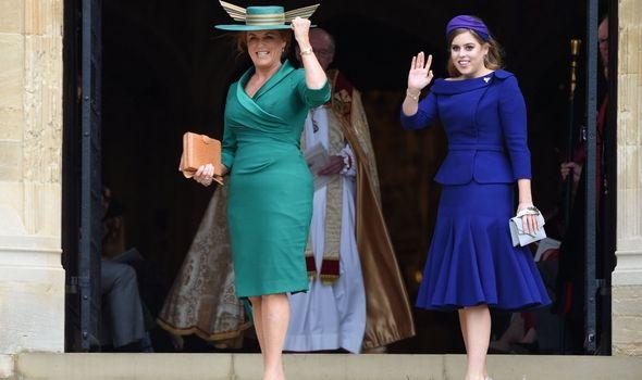Princess Beatrice with his mother Sarah Ferguson