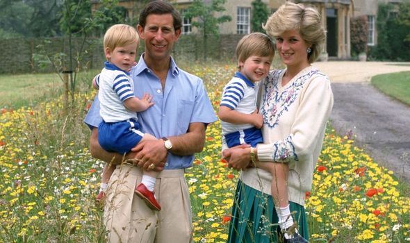 Picture of Princess Diana, Prince Charles and their sons