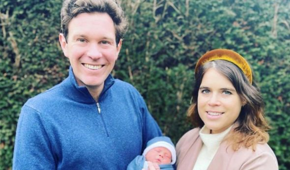 Princess Eugenie and Jack Brooksbank with August