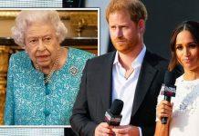 Queen Elizabeth II, Prince Harry and Meghan