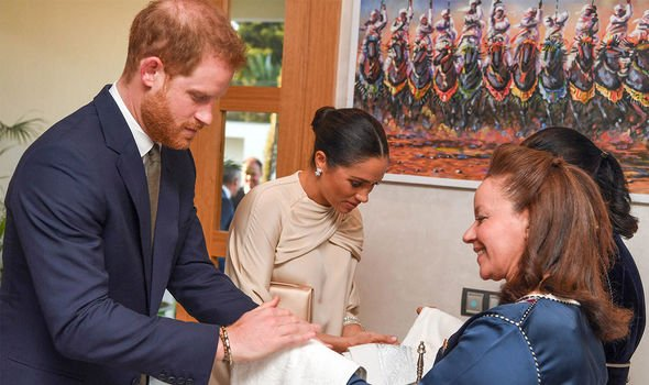 Royal tour: The pair pictured during a royal tour