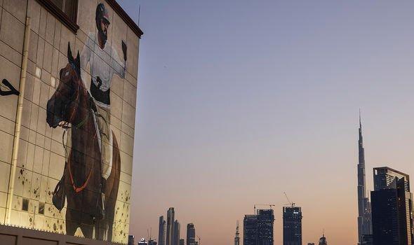 Sheikh Mohamed billboard Dubai