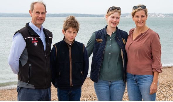 Picture of the Wessex family on a beach