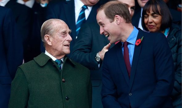 William: With late grandfather Philip