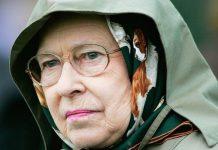 Picture of the Queen looking glum