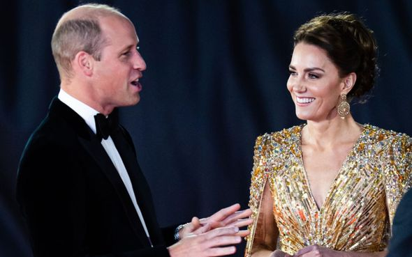 Kate appeared with William for the premiere