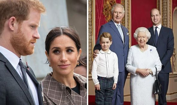 Meghan and Harry were upset by the Queen's photograph last year, book claims