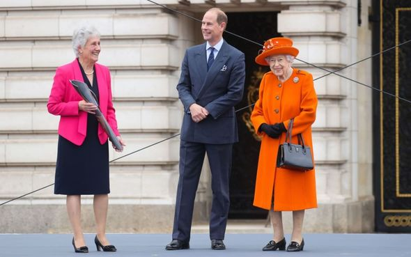 Prince Edward joined the Queen