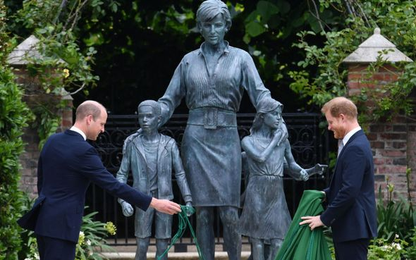 Prince Harry joined William to unveil statue