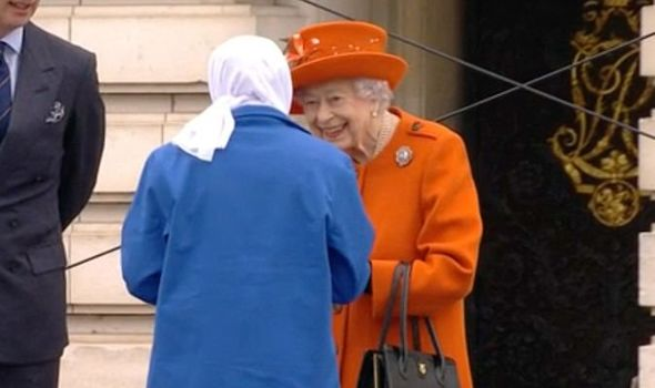 Queen was all smiles at the baton launch