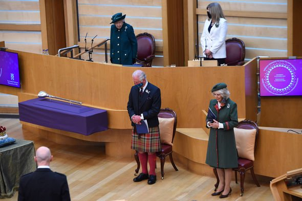 Queen, Prince Charles and Camilla