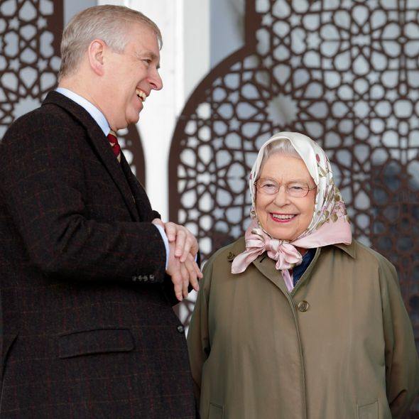 the Queen and Prince Andrew
